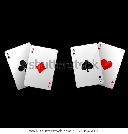 Poker kartları nakit tablo para para Stok fotoğraf © janhetman