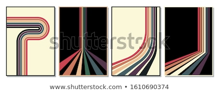 Vintage colored stripes Stock photo © burakowski