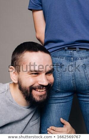 studio portrait of young alternative couple in love Stock photo © pxhidalgo