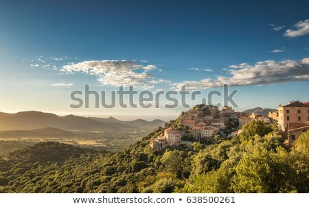 The village of Belgodere in Corsica Stock photo © Joningall