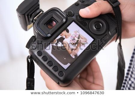 Boda fotógrafo stock foto Foto stock © dgilder