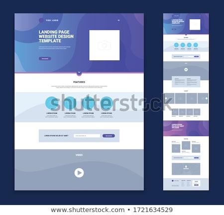 Sayfası 3D oluşturulan resim mavi web sitesi Stok fotoğraf © flipfine