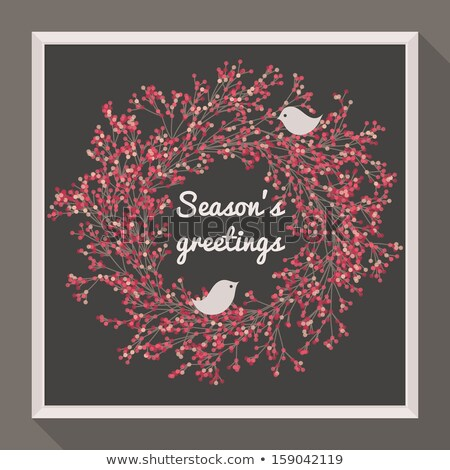花輪 2 かなり 鳥 季節 ストックフォト © isveta