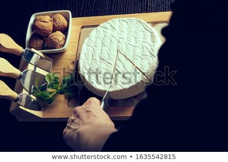 queijo · roda · branco · comida · cortar - foto stock © yelenayemchuk