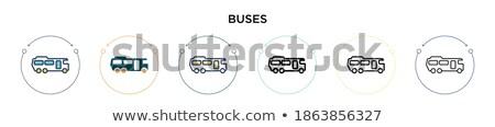 город · транспорт · автобус · улице - Сток-фото © leonido