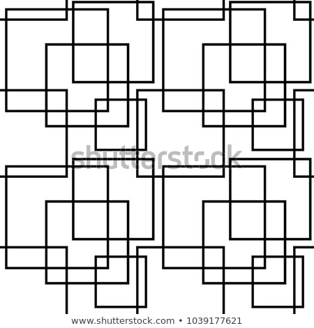 Repeating ornament white intersecting shapes Stock photo © Zebra-Finch