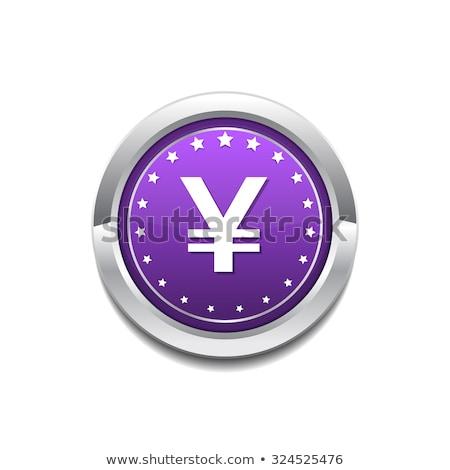 Yen moeda assinar vetor roxo Foto stock © rizwanali3d