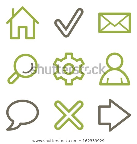 gear green vector icon button stock photo © rizwanali3d