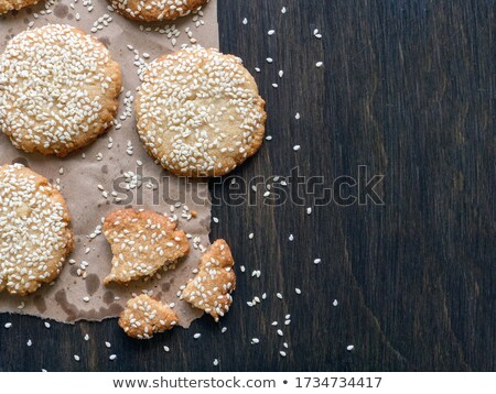 Healthy Chocolate Crispy Cookies with Sesame Stock photo © dariazu