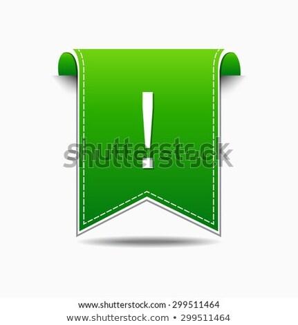 Alertar assinar verde praça botão ícone Foto stock © rizwanali3d