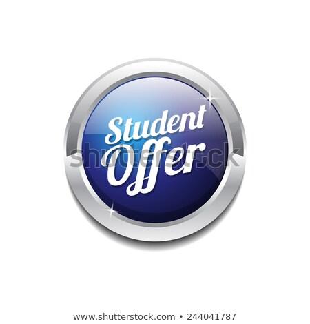 Student Offer Blue Vector Icon Design Stock photo © rizwanali3d