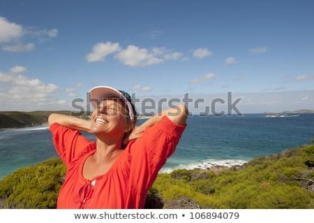 成熟した 女性 孤立した 海 肖像 セクシー ストックフォト © roboriginal