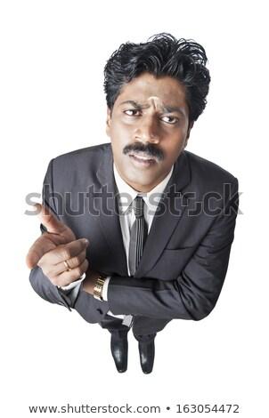 indian · zakenman · denken · aantrekkelijk · laat · dertigers - stockfoto © imagedb