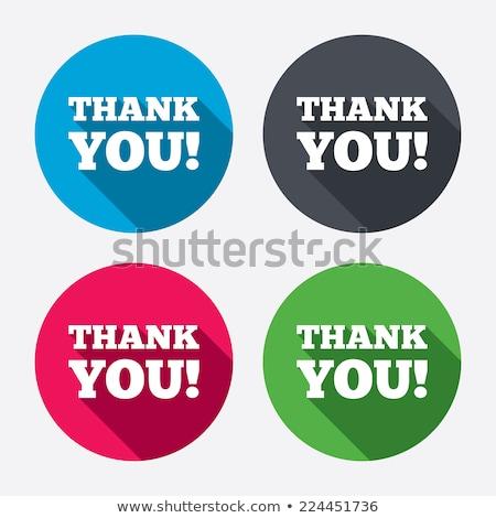 Köszönjük rózsaszín vektor gomb ikon terv Stock fotó © rizwanali3d