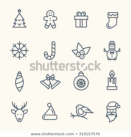 Christmas Line Icons Stock photo © timurock