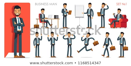 Male office workers in different actions Stock photo © bluering