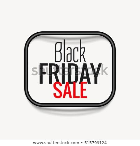 élégant black friday vente affiche sombre cadre Photo stock © SArts