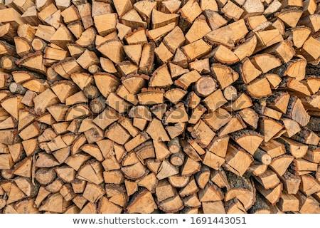 Foto stock: Madeira · secar · ao · ar · livre · fogo · grama