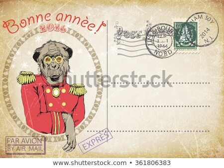 French postage stamp with fairy-tale image Stock photo © Hofmeester