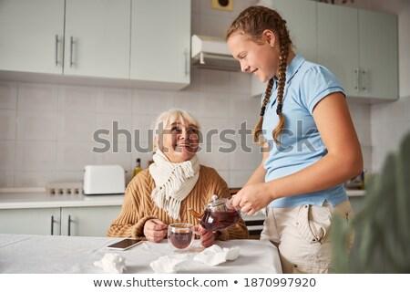 笑みを浮かべて 祖母 支援 孫娘 ストックフォト © wavebreak_media