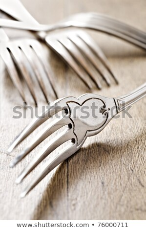Antique Fork At Close Up - Very Shallow Depth Of Field Stok fotoğraf © Tish1