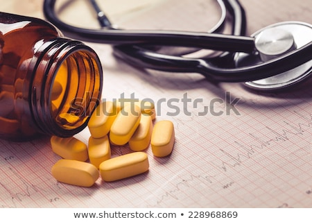 pills on the cardiogram stock photo © grafvision