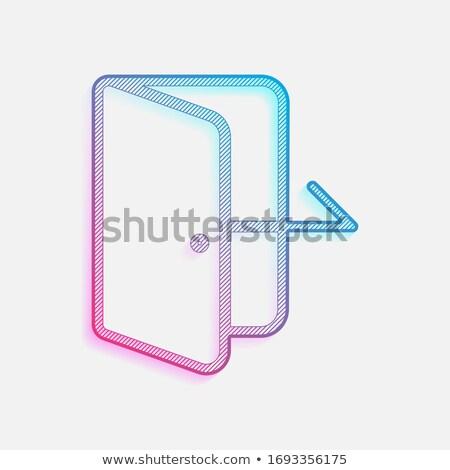 Neon quit concept. Stock photo © 72soul