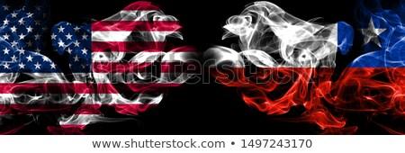 Futball lángok zászló Chile fekete 3d illusztráció Stock fotó © MikhailMishchenko