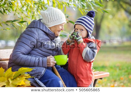 A grandmother talking to her grandson Stock photo © IS2