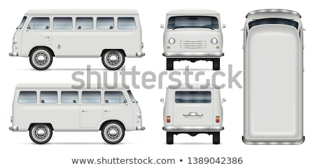 family at back of camper van stock photo © is2