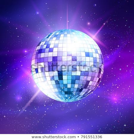 Blask piłka lustra disco ball dekoracji streszczenie Zdjęcia stock © Krisdog
