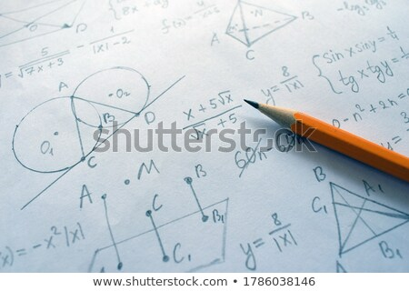 Pen over a sheet of paper with maths formulas Stock photo © wavebreak_media