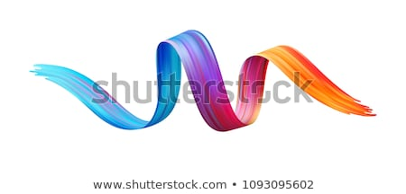 paint brush with stripes and color drops Stock photo © djdarkflower