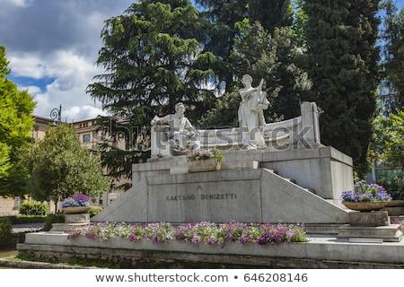 Monument of Gateano Donizetti in Bergamo Stock photo © boggy