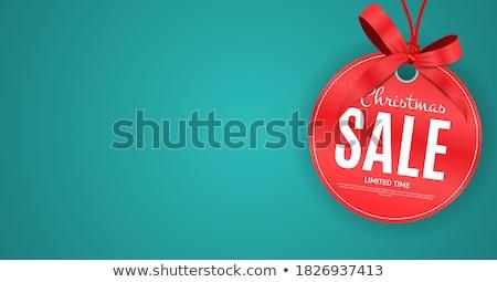 karácsony · vásár · szalag · vektor · sablon · cukorka - stock fotó © adamson