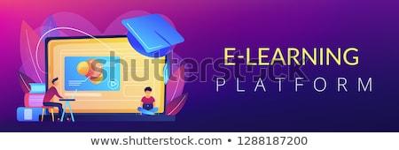Online education platform concept banner header. Stock photo © RAStudio