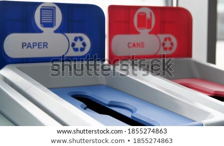 Bin Made of Metal Material, Container for Garbage Stock photo © robuart