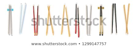 vector set of chopsticks Stock photo © olllikeballoon