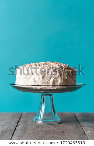 Pavlova cake with colorful Sprinkles Stock photo © YuliyaGontar