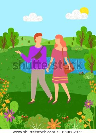 rio · ilustração · primavera · verão · desenho · animado · paisagem - foto stock © robuart