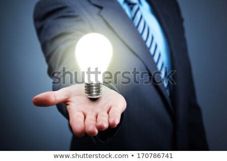 Lámpa fény fényes színek villanykörte szimbólum Stock fotó © robuart