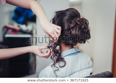 hair styling woman client at hairdressers salon stock photo © robuart