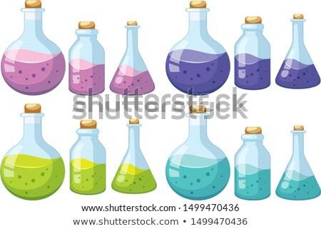 Zestaw nauki wyroby szklane sztuki maska biały Zdjęcia stock © bluering
