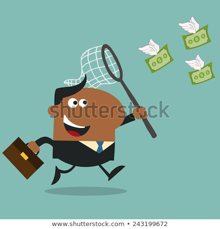 Müdür uçan para stil yalıtılmış Stok fotoğraf © hittoon