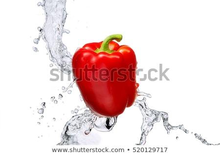 Red bell pepper splashing Stock photo © posterize