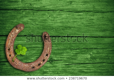 happy st patricks day green clover leaves frame Stock photo © SArts