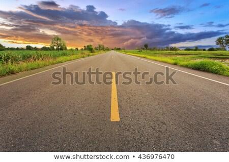 Индонезия шоссе знак зеленый облаке улице знак Сток-фото © kbuntu