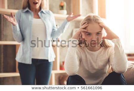 Stock photo: Teenage girl frustrated