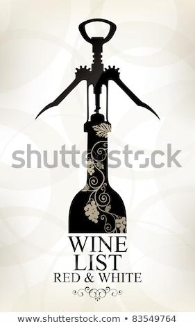 şarap liste kapak dizayn düğün kitap Stok fotoğraf © Kaludov