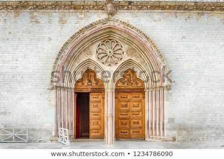 starych · włoski · toskański · dekoracyjny · ściany · tle - zdjęcia stock © wjarek